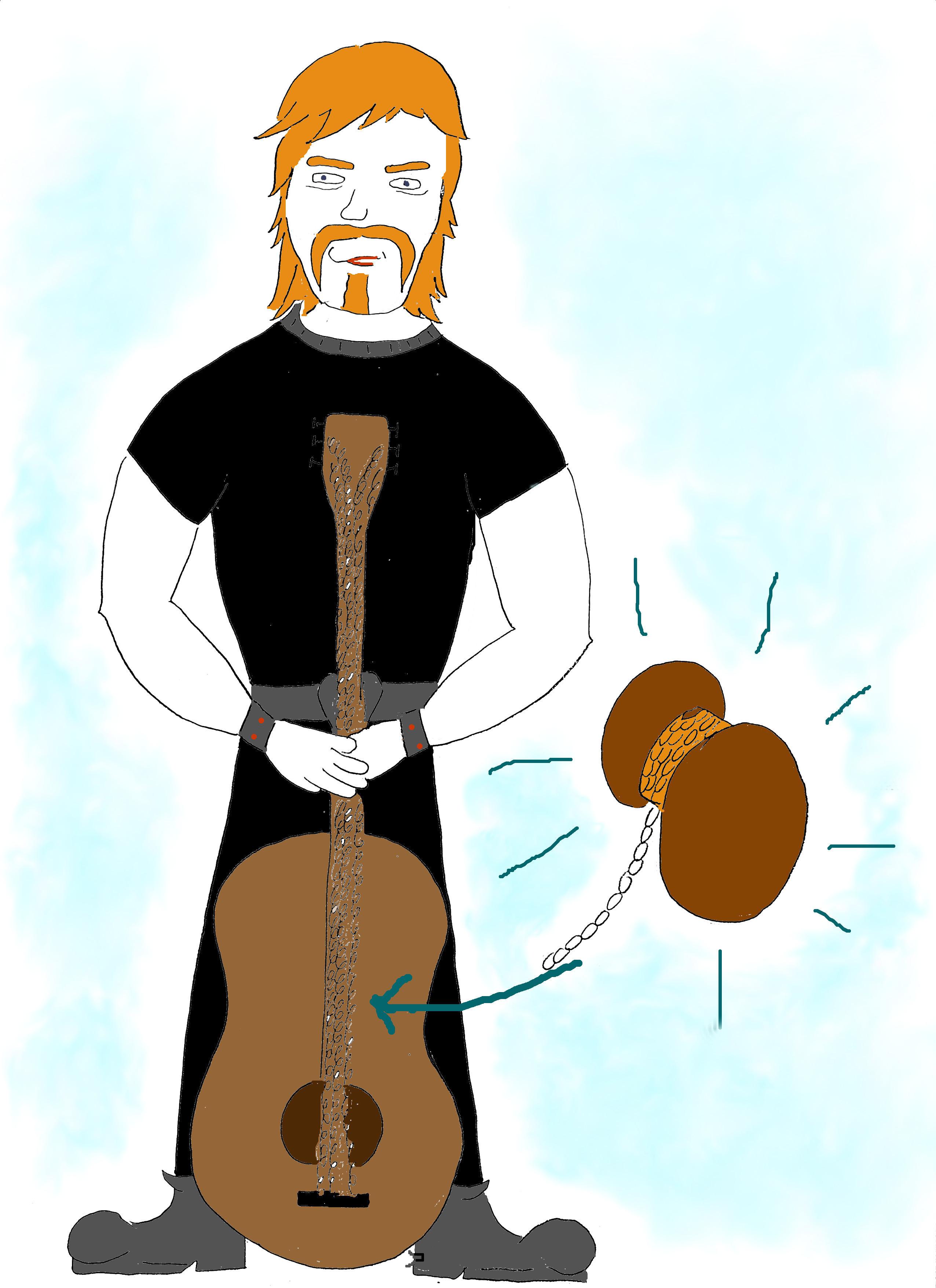 James Hetfield mit Gitarre